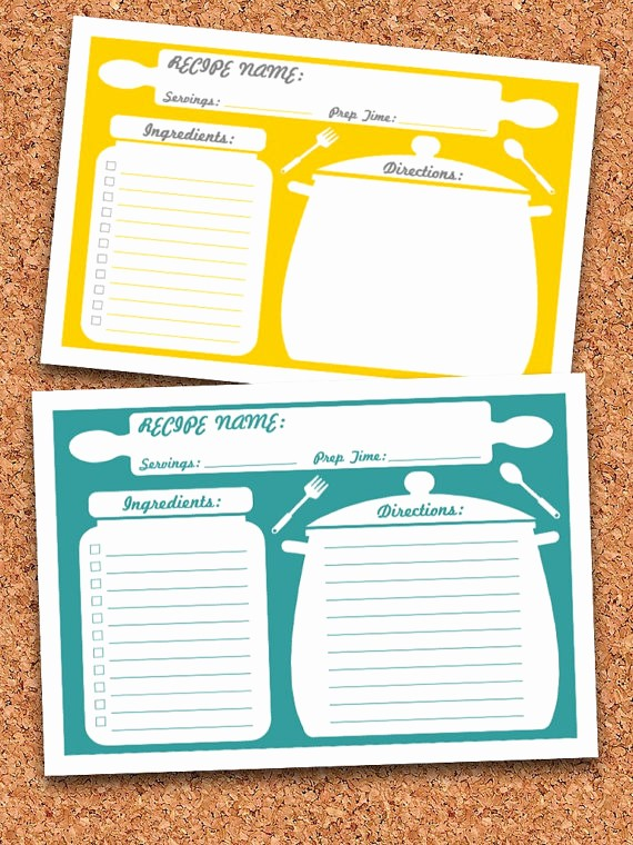Microsoft Word 4x6 Card Template Fresh Recipe Cards Printable Editable Instant Download