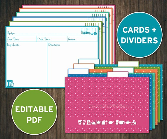 Microsoft Word 4x6 Card Template Inspirational Editable Recipe Cards Divider 4x6 Recipe Cards Printable