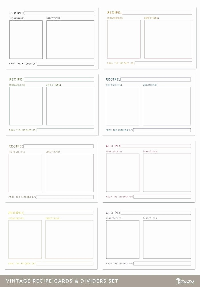 Microsoft Word 4x6 Card Template Luxury 4×6 Recipe Card Template Recipes for Mac – Spitznasfo