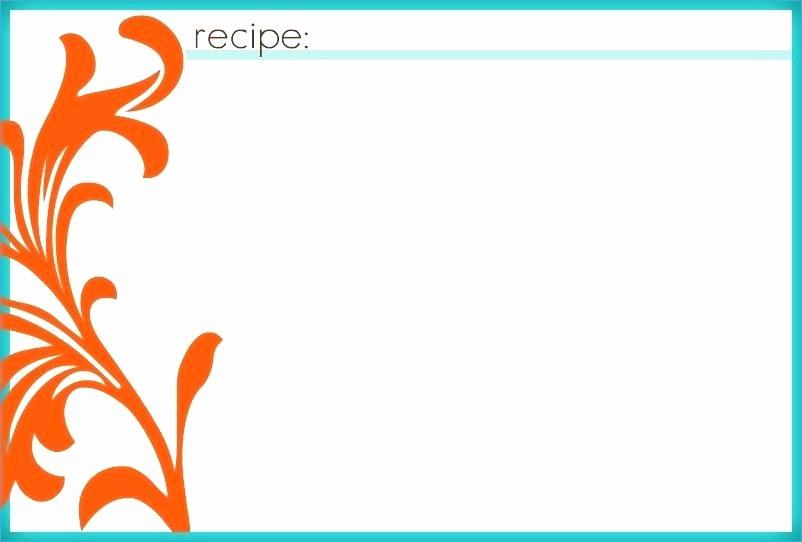 Microsoft Word 4x6 Card Template Luxury 95 4x6 Recipe Cards Templates Word Blank Recipe Card
