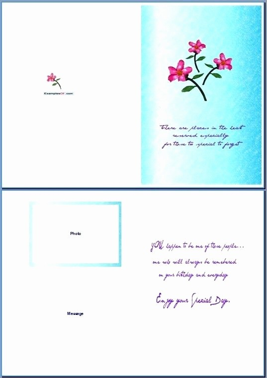 Microsoft Word Birthday Card Templates Beautiful Word Greeting Card Template Invitation Template
