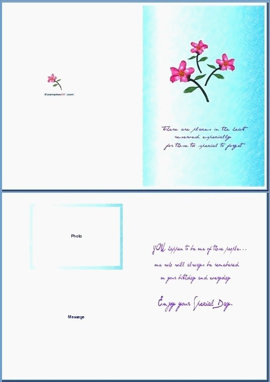 Microsoft Word Birthday Card Templates Lovely Microsoft Word Birthday Card Template – Draestantfo