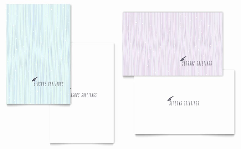 Microsoft Word Birthday Card Templates Luxury Snow Bird Greeting Card Template Word & Publisher