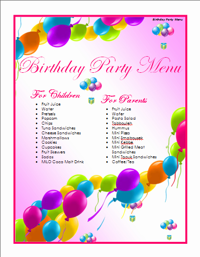 Microsoft Word Birthday Card Templates New Microsoft Word Birthday Card Template Template