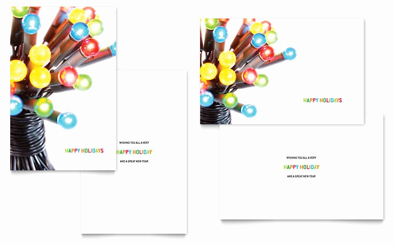 Microsoft Word Birthday Card Templates Unique Christmas Lights Greeting Card Template Word & Publisher