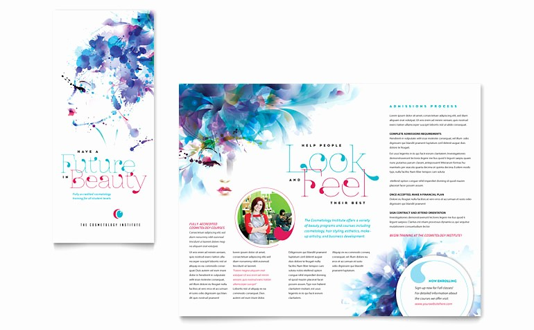 Microsoft Word Brochure Template Download Awesome Cosmetology Brochure Template Word & Publisher