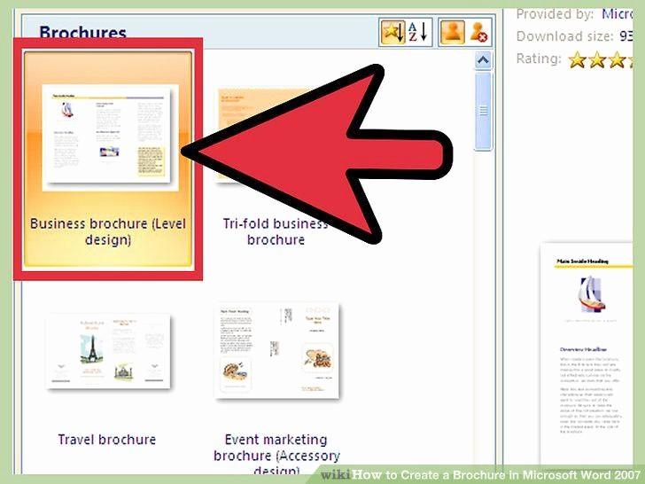create brochure in word