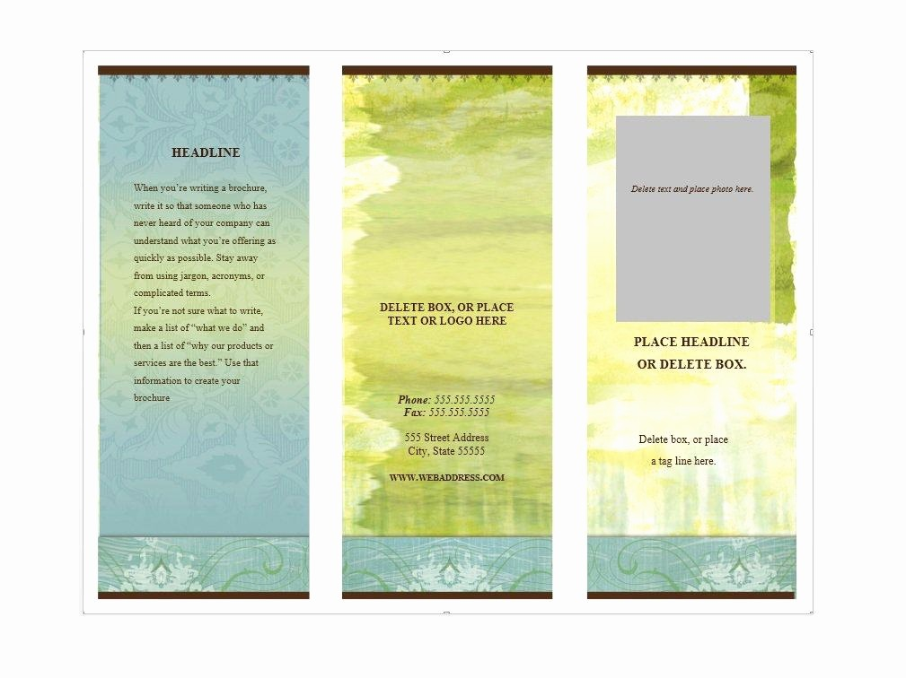 Microsoft Word Brochure Template Download Lovely 31 Free Brochure Templates Ms Word and Pdf Free