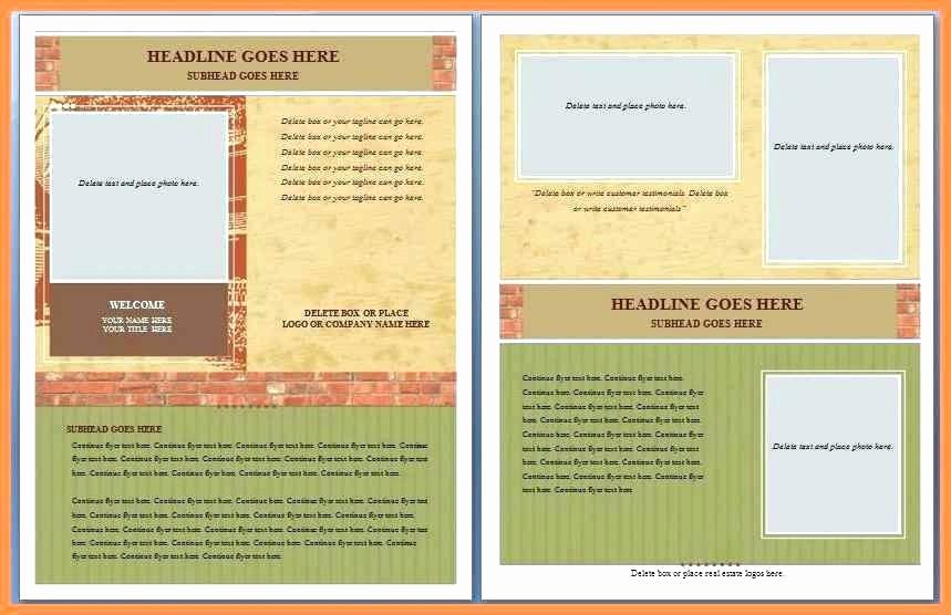 Microsoft Word Brochure Template Download New Fice Word Brochure Template Free Flyer Ms Real Estate