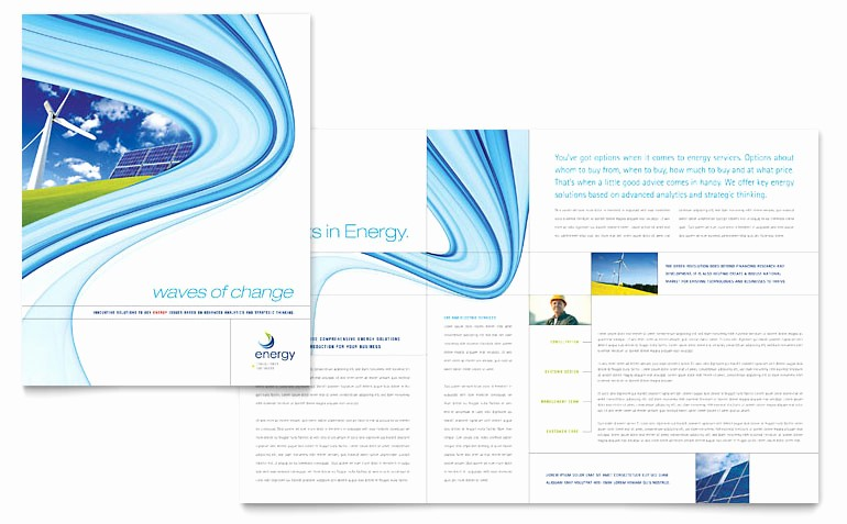 Microsoft Word Brochure Template Download Unique Renewable Energy Consulting Brochure Template Word