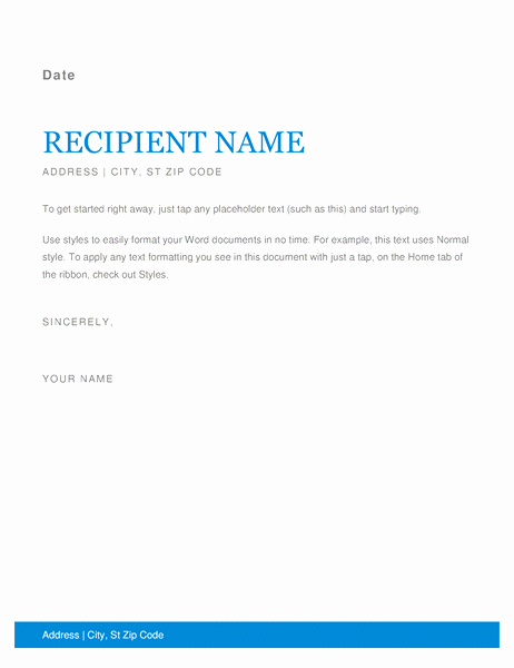Microsoft Word Business Letter Templates Awesome Letters Fice