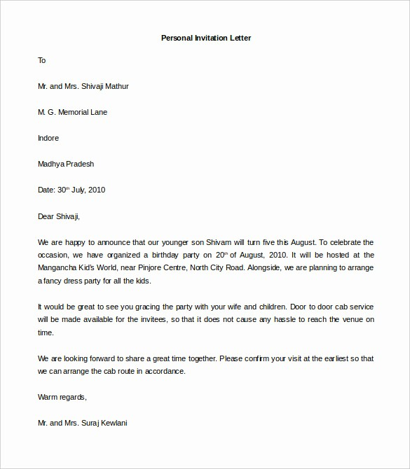 Microsoft Word Business Letter Templates Beautiful 44 Personal Letter Templates Pdf Doc
