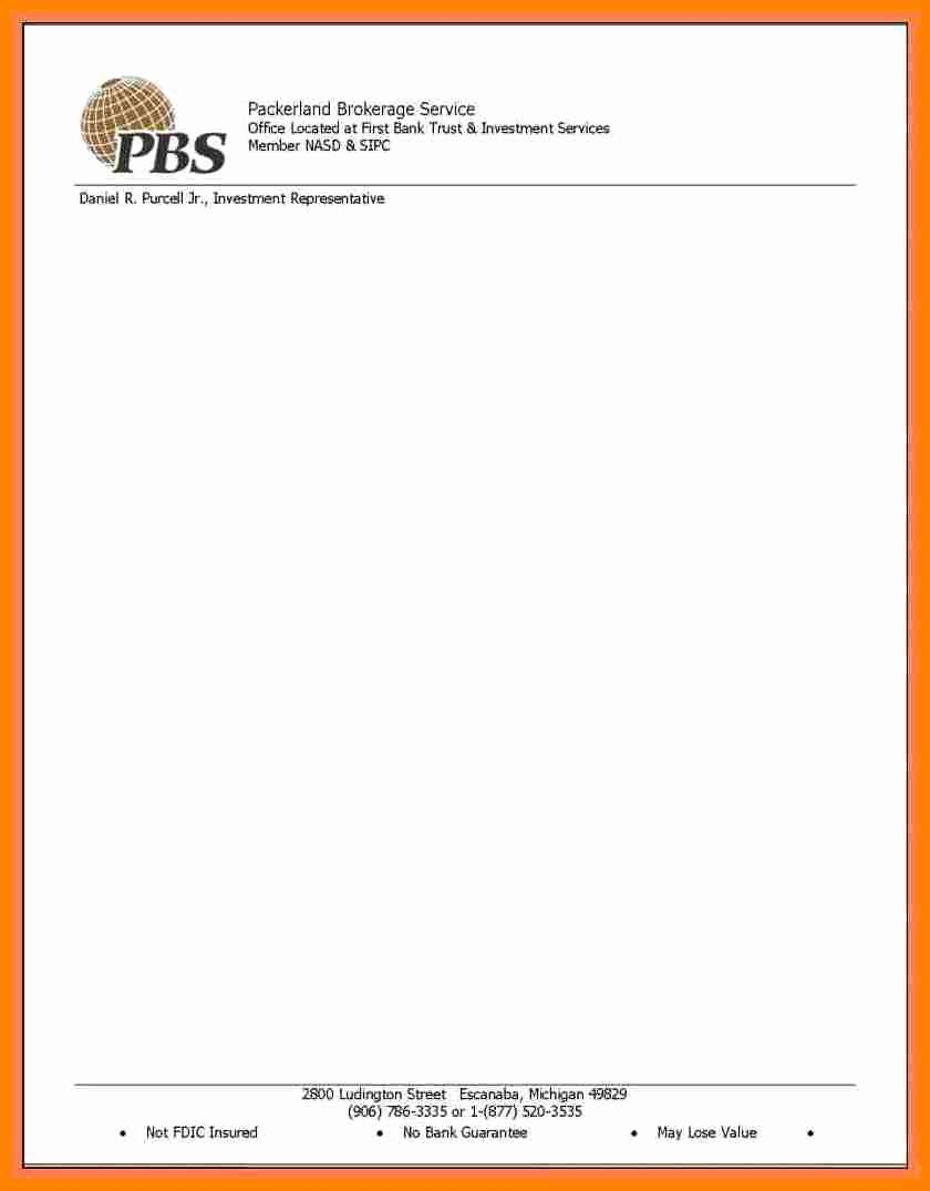 Microsoft Word Business Letter Templates Elegant 10 Letterhead Templates Word 2010