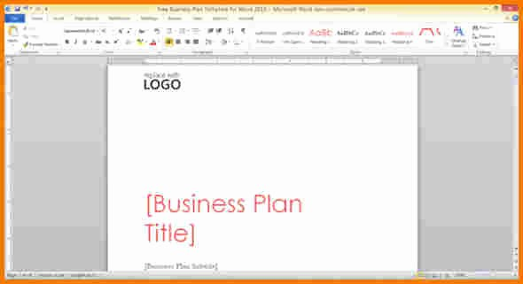 Microsoft Word Business Letter Templates Unique Microsoft Word Business Plan Template