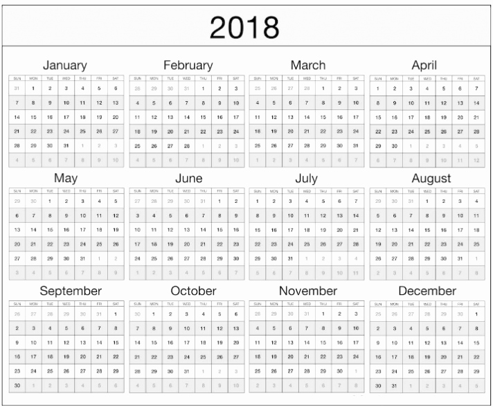Microsoft Word Calendar Template 2018 Beautiful Microsoft 2018 Calendar Template