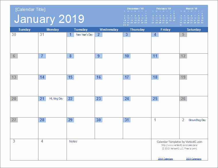 Microsoft Word Calendar Template 2018 Best Of 2019 Calendar Templates and