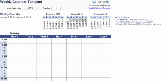 Microsoft Word Calendar Template 2018 Best Of Best Free 2018 New Year Calendar for Excel Word Ms
