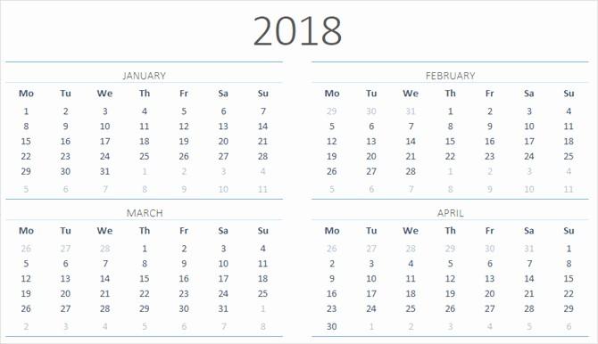 Microsoft Word Calendar Template 2018 Best Of Microsoft Fice Calendar Template 2018