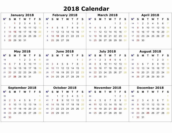 Microsoft Word Calendar Template 2018 Elegant 2018 Calendar Word