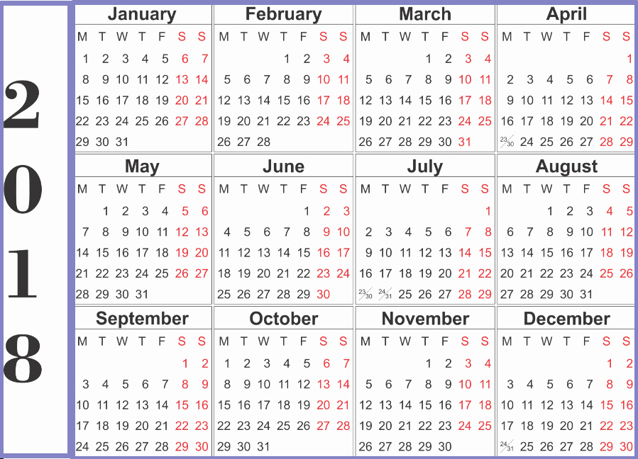 Microsoft Word Calendar Template 2018 Inspirational 2018 Calendar Word Printable Template