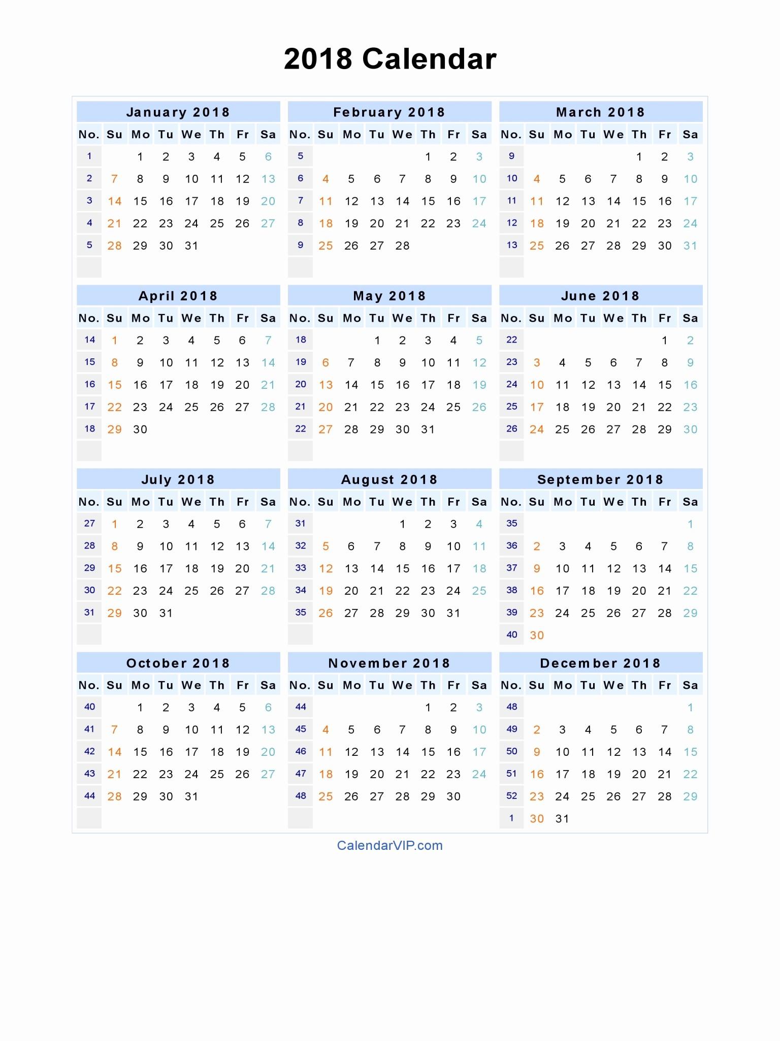 Microsoft Word Calendar Template 2018 Luxury 2018 Calendar Word