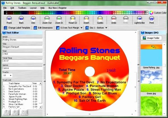 memorex cd label word template