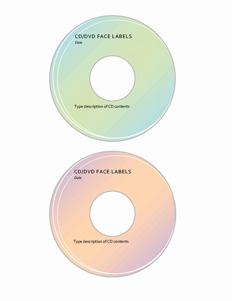 Microsoft Word Cd Label Template Best Of Cd Label Templates for Word Templates Resume Examples