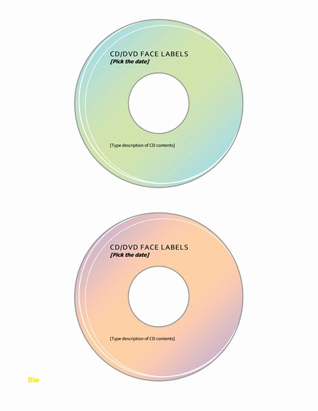 Microsoft Word Cd Label Template Lovely New Cd Label Template Word