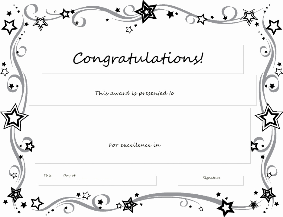 Microsoft Word Certificate Template Free Elegant Gallery Of Recognition Certificate Templates Free