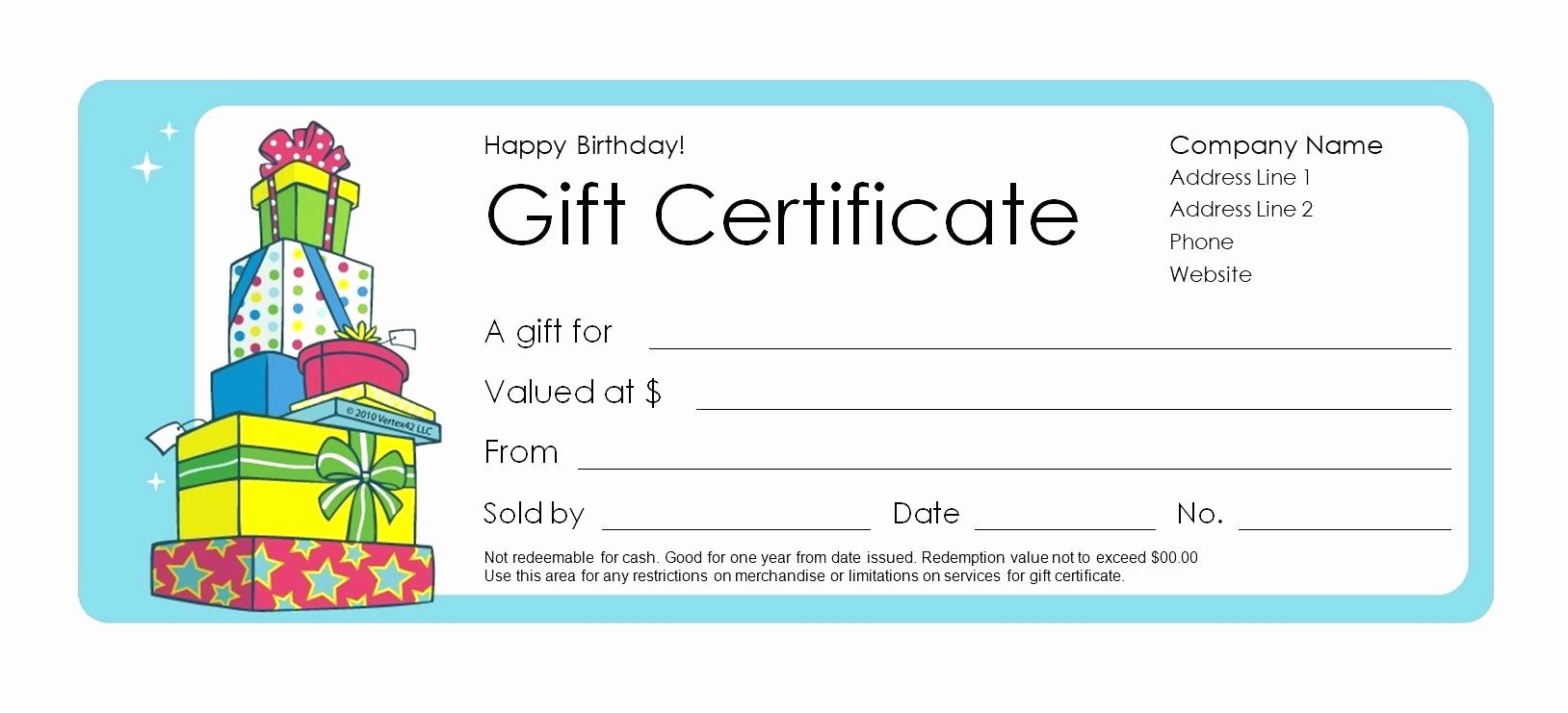 Microsoft Word Certificate Template Free Inspirational Template Microsoft Word Gift Certificate Template