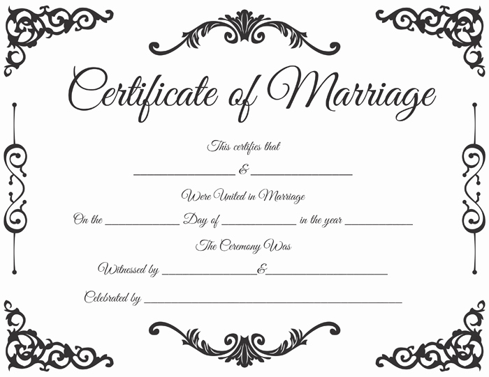 Microsoft Word Certificate Template Free Inspirational Traditional Corner Marriage Certificate Template Dotxes