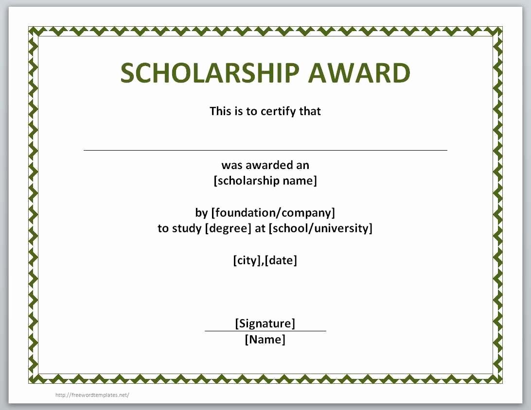 Microsoft Word Certificate Template Free Lovely Award Certificate Template Word Example Mughals
