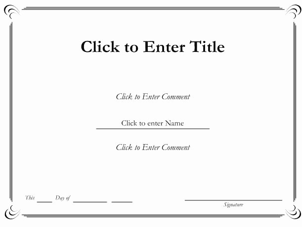 Microsoft Word Certificate Template Free Lovely Ms Word Printable Certificate Templates