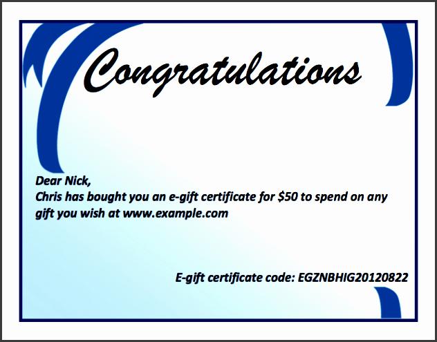 Microsoft Word Certificate Template Free Luxury 8 Gift Certificate Template In Word Sampletemplatess