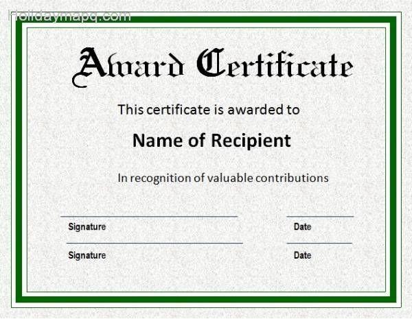 Microsoft Word Certificate Template Free Luxury Certificate Template Word Holidaymapq