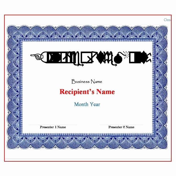 Microsoft Word Certificate Template Free Unique Microsoft Word Award Certificate Template