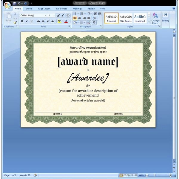 Microsoft Word Certificate Templates Free Elegant Certificate Of Appreciation Template In Word