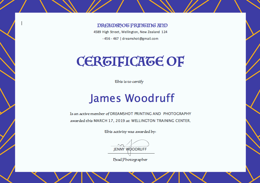 Microsoft Word Certificate Templates Free Fresh Free Certificate Templates for Word