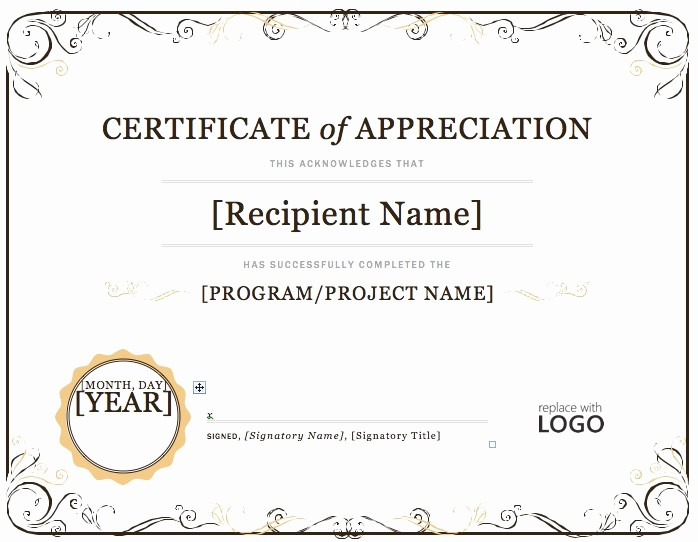 Microsoft Word Certificate Templates Free Luxury Award Templates Microsoft Word Certificate Of Appreciation