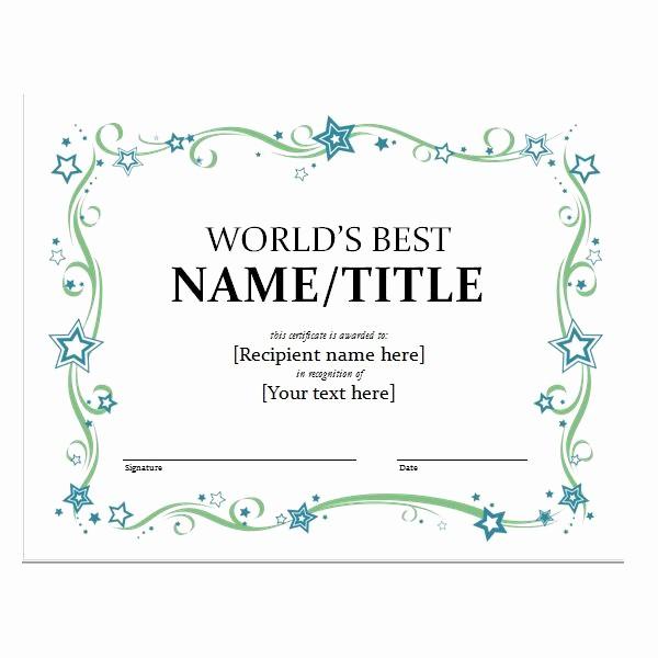 Microsoft Word Certificate Templates Free Luxury How to Create Certificates with Microsoft Word Microsoft
