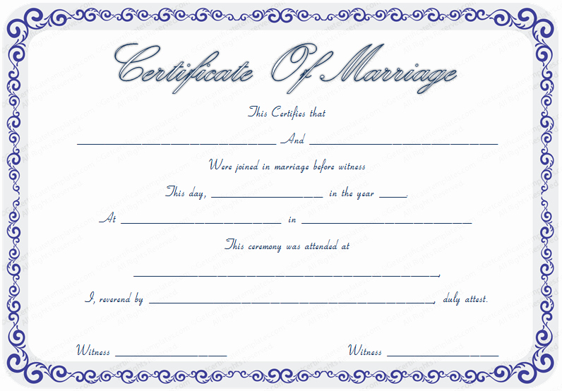 Microsoft Word Certificate Templates Free Unique Marriage Certificate Template Microsoft Word