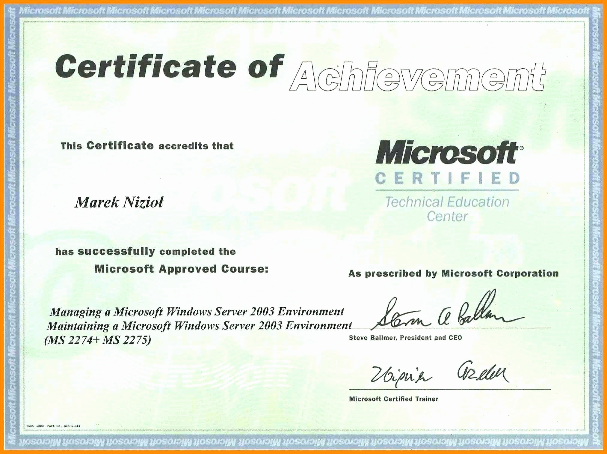 Microsoft Word Certificate Templates Free Unique Template Ms Word Certificate Template