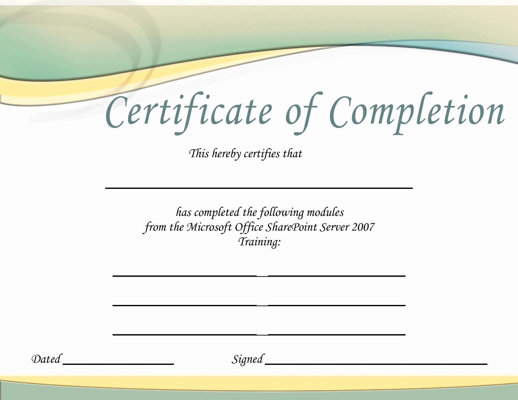 Microsoft Word Certificate Templates Free Unique Training Certificate Template Printable Microsoft Office Doc