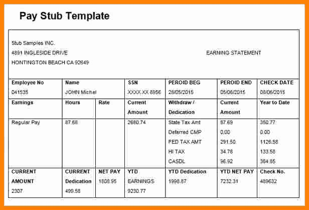 Microsoft Word Check Stub Template Beautiful 5 Paycheck Template Microsoft Word