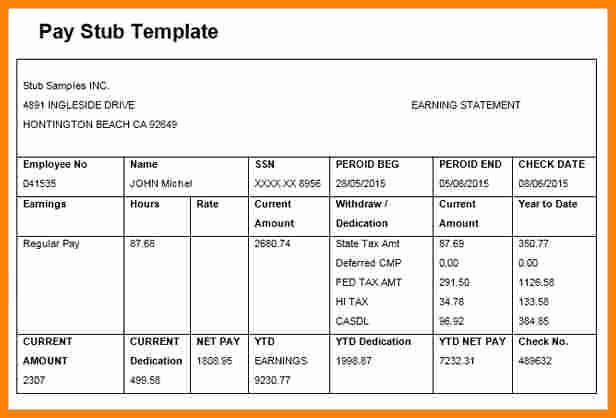 Microsoft Word Check Stub Template Beautiful 5 Paycheck Template Microsoft Word