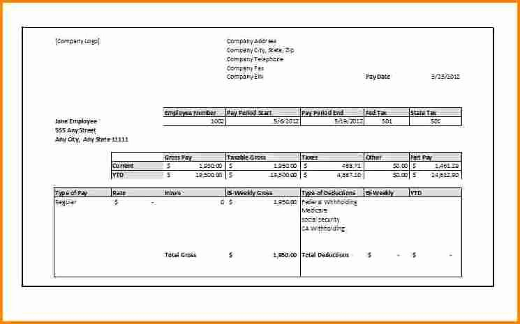 Microsoft Word Check Stub Template Best Of 6 Free Paycheck Stub Template In Microsoft Word
