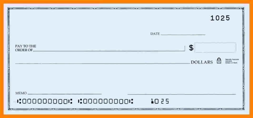 6 blank payroll checks