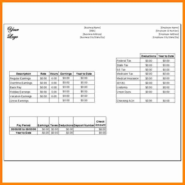 Microsoft Word Check Stub Template Inspirational 9 Paycheck Stub Template In Microsoft Word