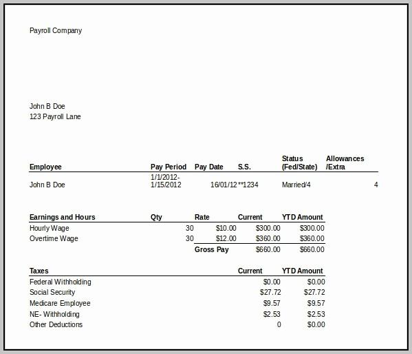 Microsoft Word Check Stub Template Luxury Free Paycheck Stub Template In Microsoft Word Template