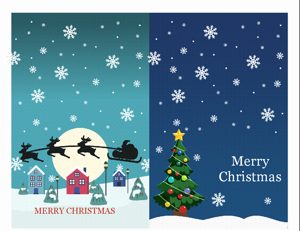 Microsoft Word Christmas Card Template Awesome Holiday Note Cards Christmas Spirit Design 2 Per Page